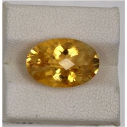 6.46ct Natural citrine oval cut