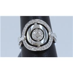 14K WHITE GOLD RING :7.4g/Diamond:0.41ct