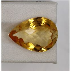 10.75ct Natural citrine pear cut