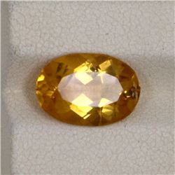 3.70ct Natural citrine oval cut