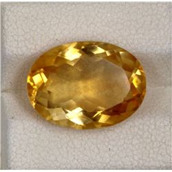 7.89ct Natural citrine oval cut