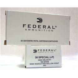 2 Boxes of Federal Ammunition 38 Special High Velo