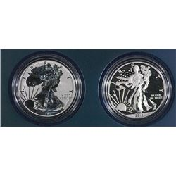 2013 WEST POINT AMERICAN SILVER EAGLE 2 PIECE SET