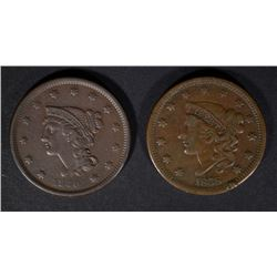 1838 F/VF & 1840 VF U.S. LARGE CENTS