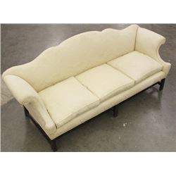 Chippendale Style Antique Camel Back Sofa
