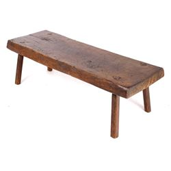 Primitive Hog Bench Coffee Table c. 1850's