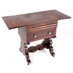 Empire Style Drop-Leaf Secretary Pen Table c. 1840