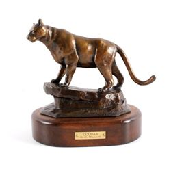 G.C. Wentworth Cougar Bronze Sculpture