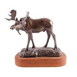 Original Bob Scriver Bronze Moose Sculpture