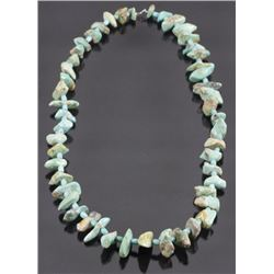 Natural Cripple Creek Turquoise Nugget Necklace