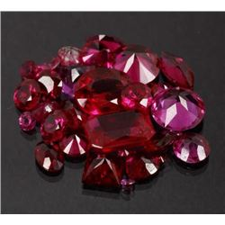 43ct of Faceted UnMounted Pink Sapphire Gem Stones