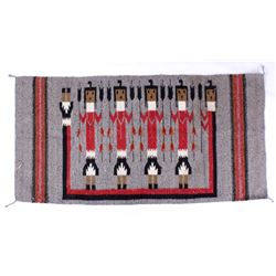 Fine Navajo Native American Pictorial Yei Rug