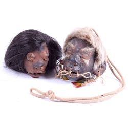 Two Shrunken Heads--Tsantsas