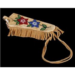 Sioux Polychrome Floral Beaded Waist Holster