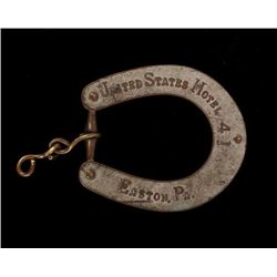 United States Hotel Horseshoe Key Fob c. 1891