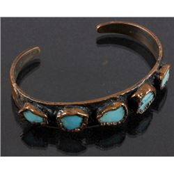 Bell Trading Co. Navajo Copper & Turquoise Cuff