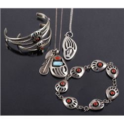 Navajo Sterling Bear Paw Jewelry Collection