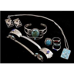 Large Assortment of Silver & Navajo Jewelry