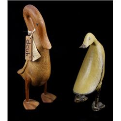 Wooden Duck Decoy Folk Art Carvings