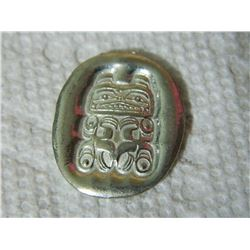 "TSIMSHIAN FIRST NATIONS POCKET SPIRIT PEWTER TOKEN - BEAR - STAMPED ""STRENGTH"" BY TERRY STARR"