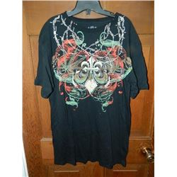 T-SHIRT -  AFFLICTION - BARBED WIRE WITH 2 RED SKELETON SNAKES FACING OUT -  AFFLICTION PANTERA  ON