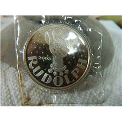 SILVER BULLION - 1 TROY OUNCE - RUDOLPH - 2013