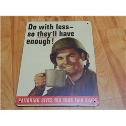 METAL SIGN - 12 X 8  - DO WITH LESS......