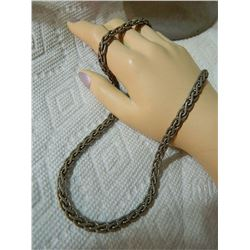 "SILVER CHAIN - 30gm - 18"" LONG - 1/4"" WIDE"