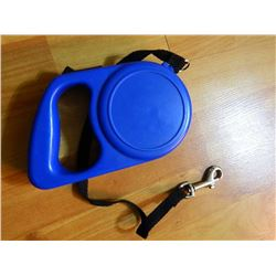 RETRACTABLE LEASH - BLUE - LARGE DOG - `12' LONG CORD - LOOKS NEW