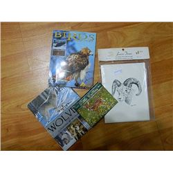 NEW POSTCARDS - BIRDS OF PREY (12), WOLVES (9) & LITTLE CRITTER PRINTS (12) - 3 PKGS TTL