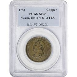 EF 1783 Washington Unity States Cent 1783 Washington. Unity States Cent. Baker-1, Vlack-27-W, W-1013
