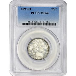 Choice Mint State 1893-O Quarter 1893-O Quarter MS-64 PCGS.