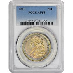 Gorgeous Choice AU 1810 Half Dollar 1810 Half Dollar O-105. Rarity-2. AU-53 PCGS.
