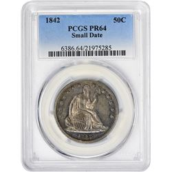 Choice Proof 1842 Half Dollar F.C.C. Boyd Specimen  1842 Half Dollar Small Date, Large Letters. WB-1