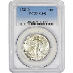 Gem Uncirculated 1929-D Half Dollar 1929-D Half Dollar MS-65 PCGS.