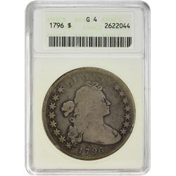 Collector-Grade 1796 Small Eagle $1 1796 Dollar Small Eagle. B-4, BB-61. Small Date, Large Letters.