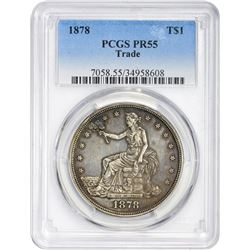 Circulated Proof-Only 1878 Trade $1 1878 Trade $1. Proof-55 PCGS.
