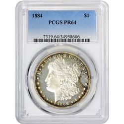 Choice Proof 1884 Morgan $1 1884 Dollar Proof-64 PCGS.
