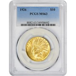 Choice Mint State 1926 Eagle 1926 Eagle MS-63 PCGS.