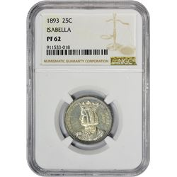 Proof 1893 Isabella Quarter 1893 Isabella 25¢. Proof-62 NGC.