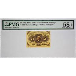 Lot of (5) Fractional Currency. PMG Graded.