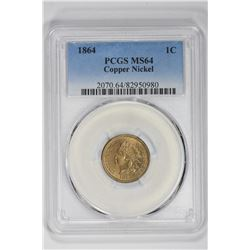 1864 1C Indian Cent. MS 64 PCGS