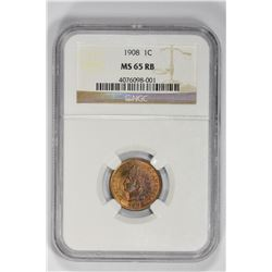 1908 1C Indian Cent. MS 65 NGC