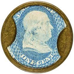 Rare S. Steinfeld Merchant S. Steinfeld. 1 Cent. HB-221, EP-27, S-165. Choice About Uncirculated.