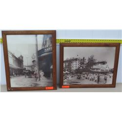 Framed Art - Vintage Black and White Reproduction Photographic Prints