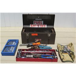 Tools - Tool Box, Roll and Case with Various Hand Tools