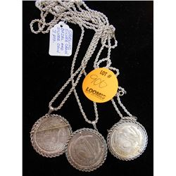 Sterling Silver Coins & Rope Necklaces