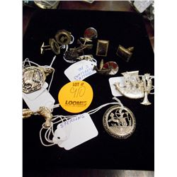 Asstd. Sterling Cufflinks, Pins, Other