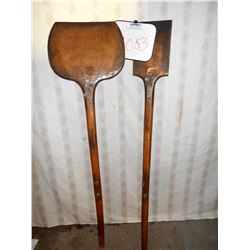 SET OF TWO VINTAGE FIRE PIZZA WOOD COOKING ITEMS
