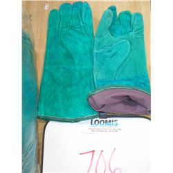 NEW LEATHER LONG CUFF WELDERS GLOVES